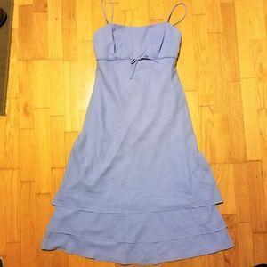 David's Bridal Powder Blue Tiered Ball Dress